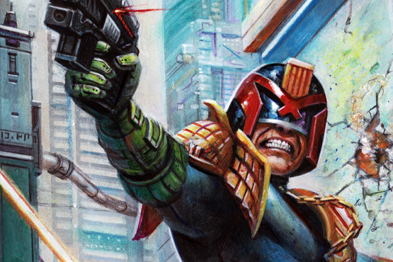 Cover art painted for Judge Dredd Megazine No.399.