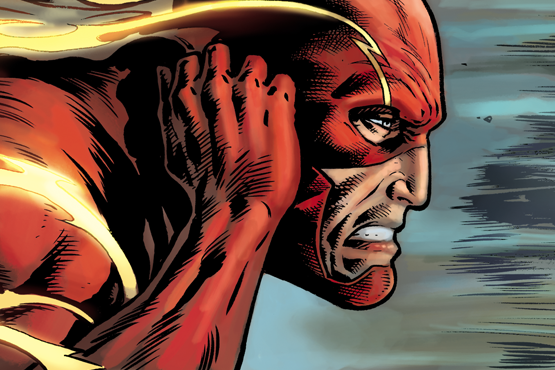 Interior colour work for Justice League Vol 3 #32.  Featuring The Flash.