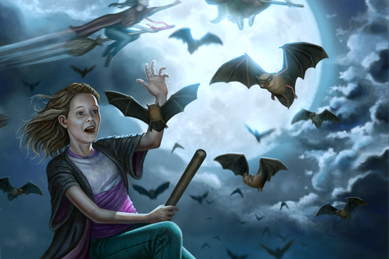 A promotional image painted for Friday Night's Dream: WYCKERTON a children's book written by 
